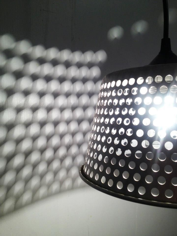 Custom Perforated Pendant Light By Remix Design