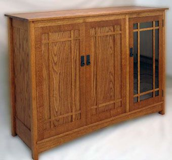 Custom Made Arts And Crafts Entertainment Center
