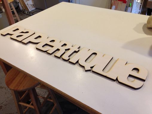 Custom Made Hanging Wood Sign