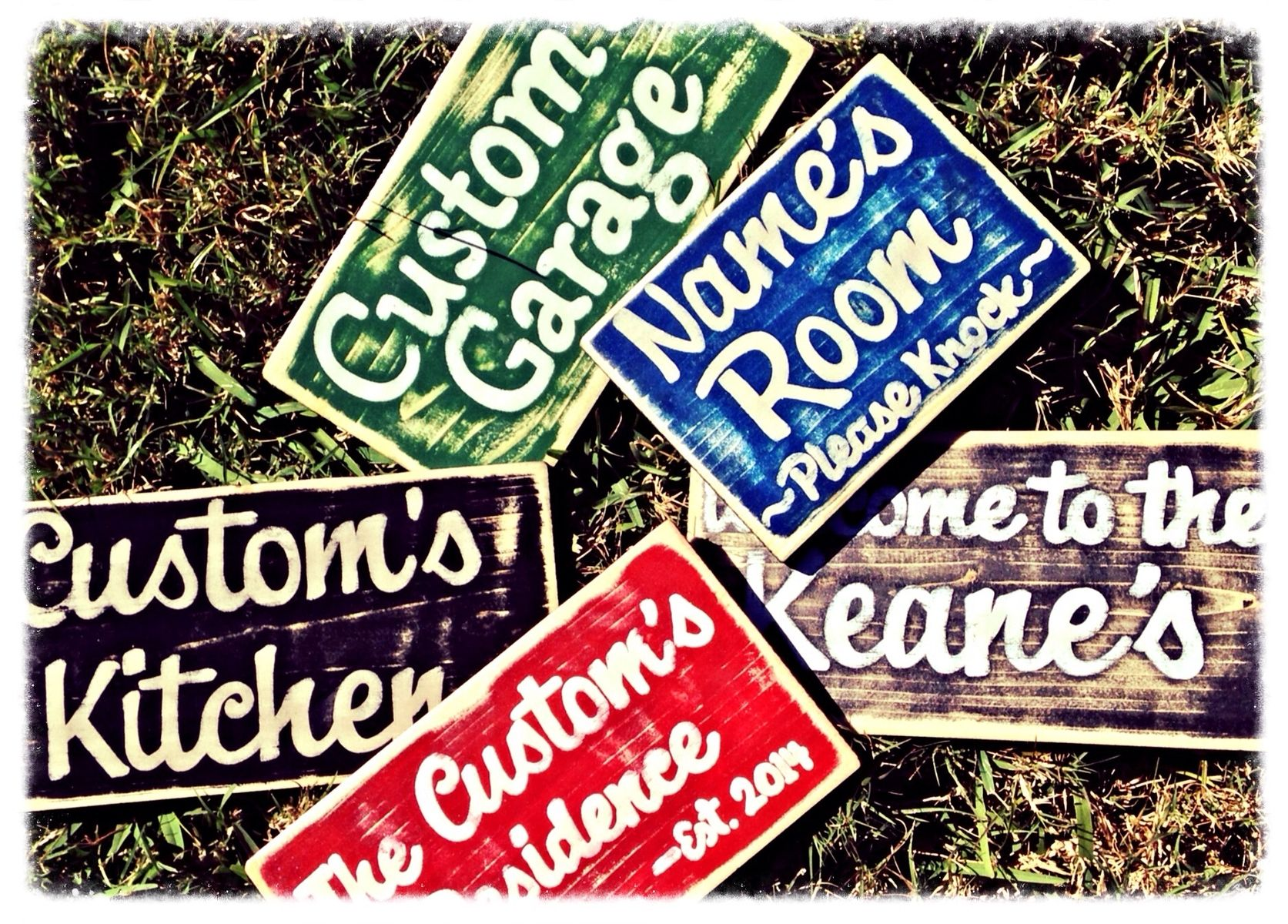 Shabby Chic Kitchen Signs : Hand made rustic custom shabby chic wood signs choose color by
