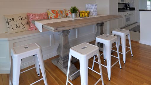 Custom Made Custom Dining Table - Counter Or Pub Height Trestle Table