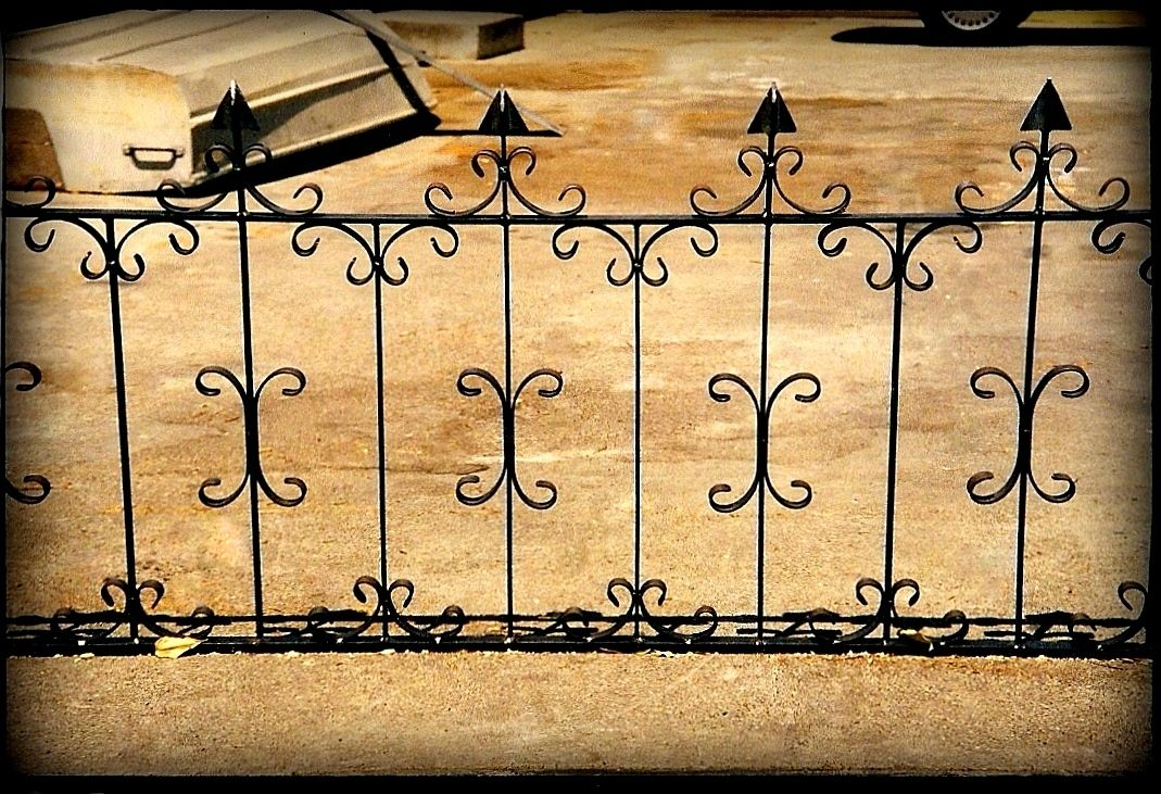 custom hand forged garden fence by napa valley custom