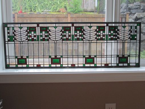 Custom Made Prairie Style Stained Glass Panel