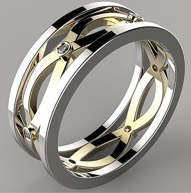 Custom Made 14k Diamond Celtic Band