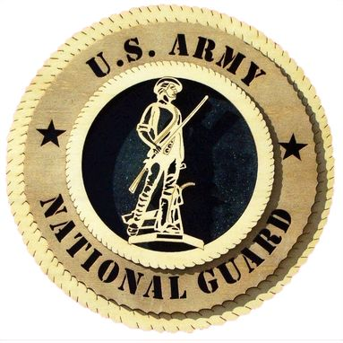 Custom Made U.S Army National Guard Wall Tribute, U.S Army National Guard Hand Made Gift