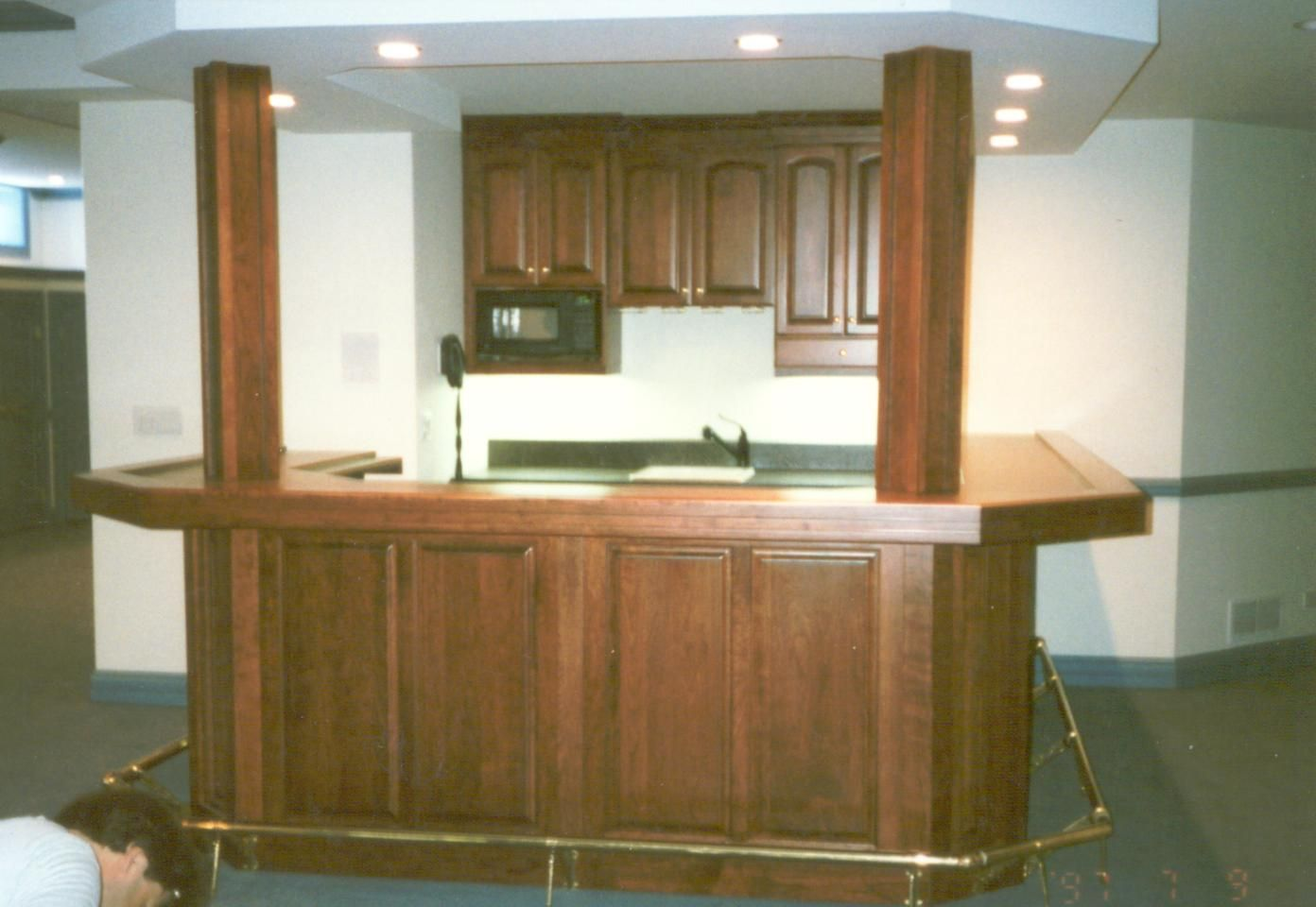 Custom Basement Wet Bar By Woodworking Unlimited Inc