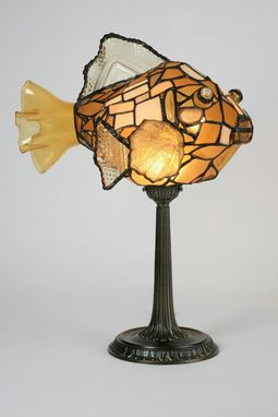 Custom Made Table Lamp - Glass Fish