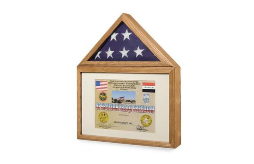 Custom Made Large Flag And Certificate Display Case