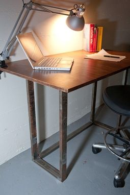 Custom Made Industrial Style Drawing Or Computer Table Made From Recycled Materials