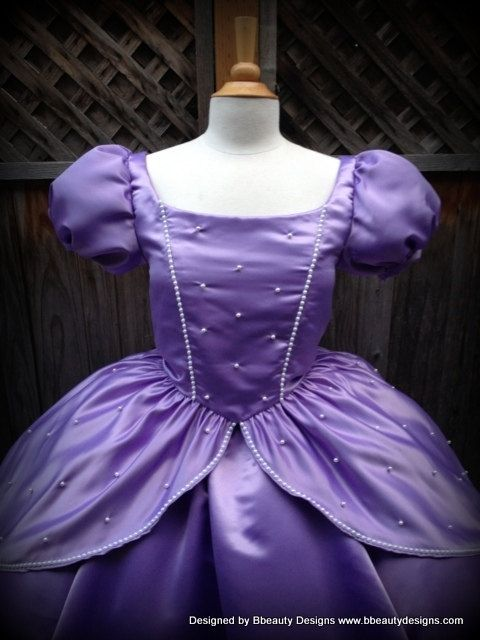 Custom Sofia The First Princess Inspired Dress Gown - Adult Size ...
