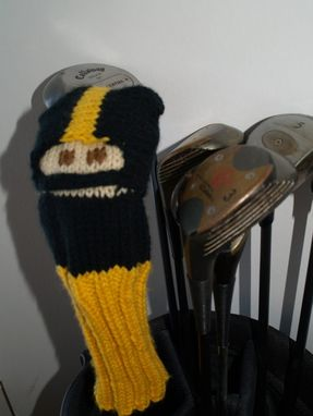 Custom Made Pittsburgh Steelers Knit Football Golf Club Cover