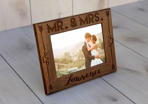Custom Made Custom Engraved Picture Frames -- Pf-Wal- Mr Mrs Lawrence