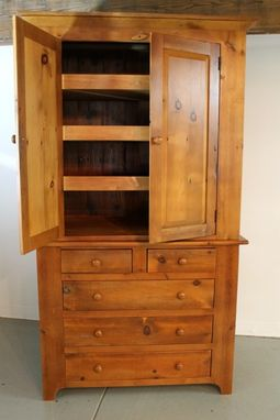 Custom Made Custom Linen Press Form Reclaimed Old Pine