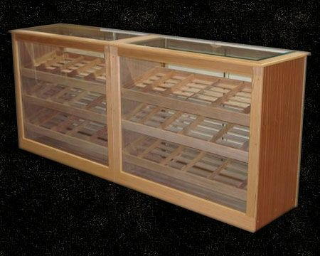 Custom Made Sapele Mahogany & Oak Counter Display Humidor