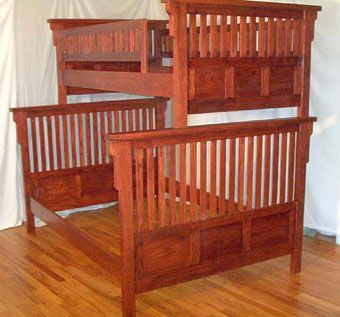 Custom Made Solid Oak Bunk Beds
