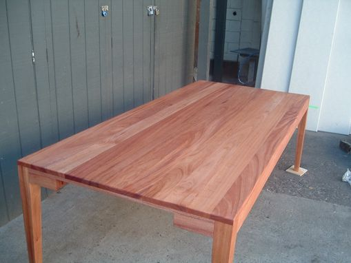 Hand Crafted Suzanne S 8 Foot Long African Mahogany Dining