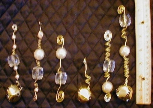 Custom Made Oversized Crystal Faceted Beads & Faux Pearl Ornaments