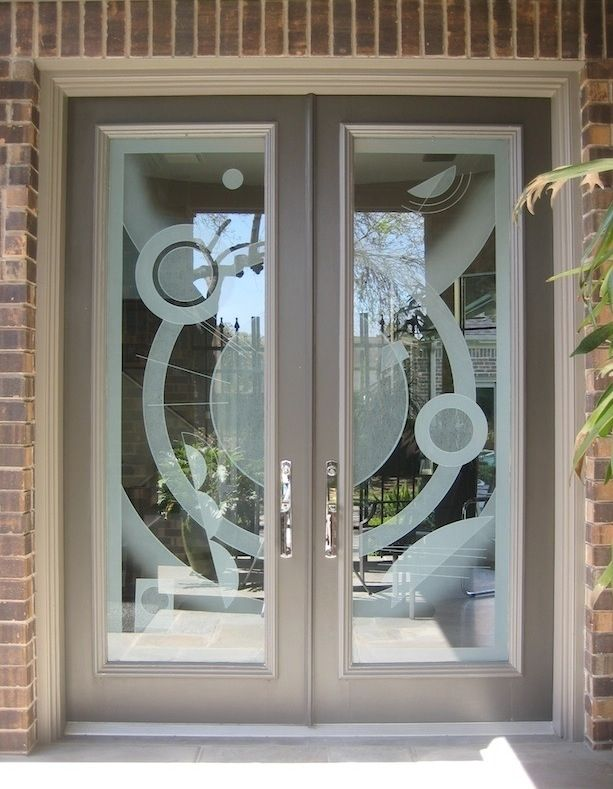Hand Crafted Residential Front Entry Doors By Ellen Abbott Custom Etched Glass