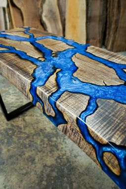 Custom Made Fractal River Entryway Table
