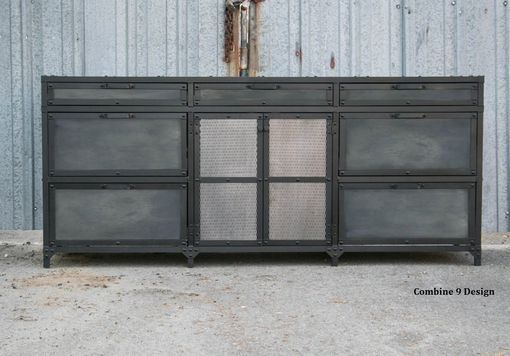 Custom Made Vintage Industrial File Cabinet. Mid Century Modern. Steel And Reclaimed Wood. Filing.