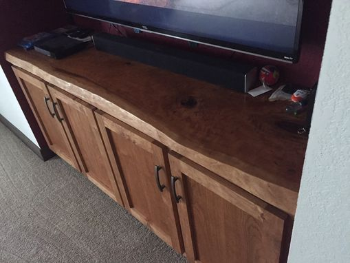 Custom Made Live Edge Entertainment Center
