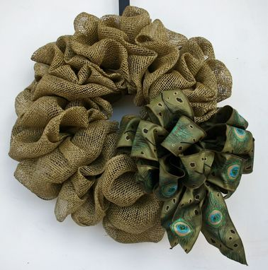 Custom Made Faux Burlap Wreath