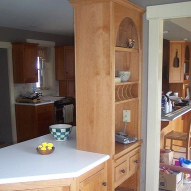 Custom Made Natural Cherry And Painted Kitchen