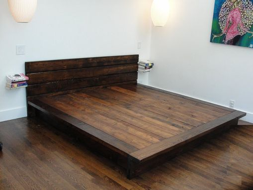 Custom Made Stained Cedar Platform