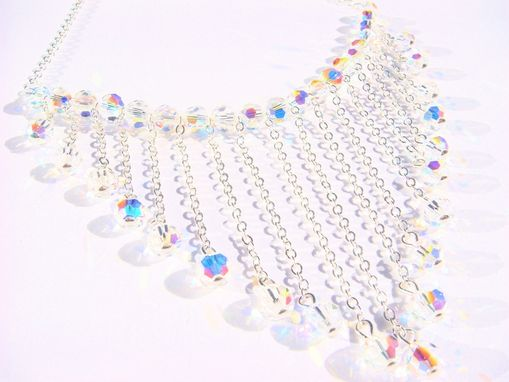 Custom Made Waterfall Swarovski Crystal Bridal Necklace