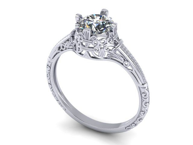 kirk filligree signature filigree kara rings inspired by engagement vintage up diamond
