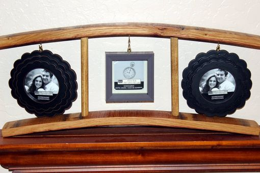 Custom Made Wine Stave Triple Floating Frame