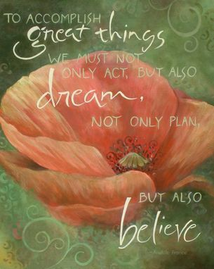 Custom Made Poppy Flower Inspirational Painting On Canvas