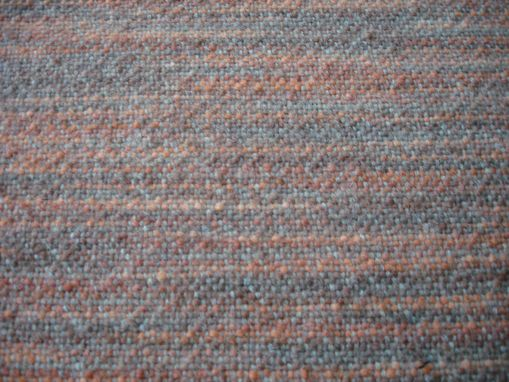Custom Made Pumpkin Patch Hand Woven Fabric