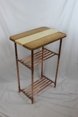 Custom Made Cherry/Maple & Copper Pipe Display Table