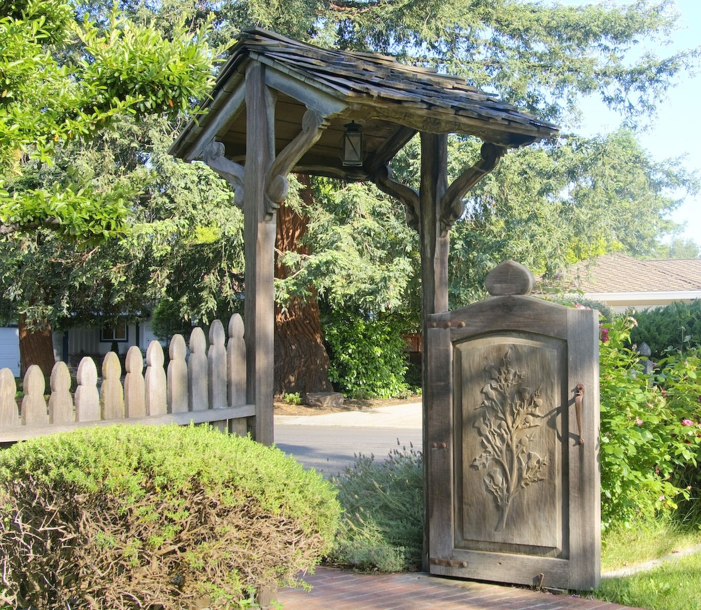 Fence Gate Design Ideas awesome and best fence design ideas with wooden fence design ideas for decorating your home exterior modern wrought woodan gate designs Hand Carved Gate And Fence
