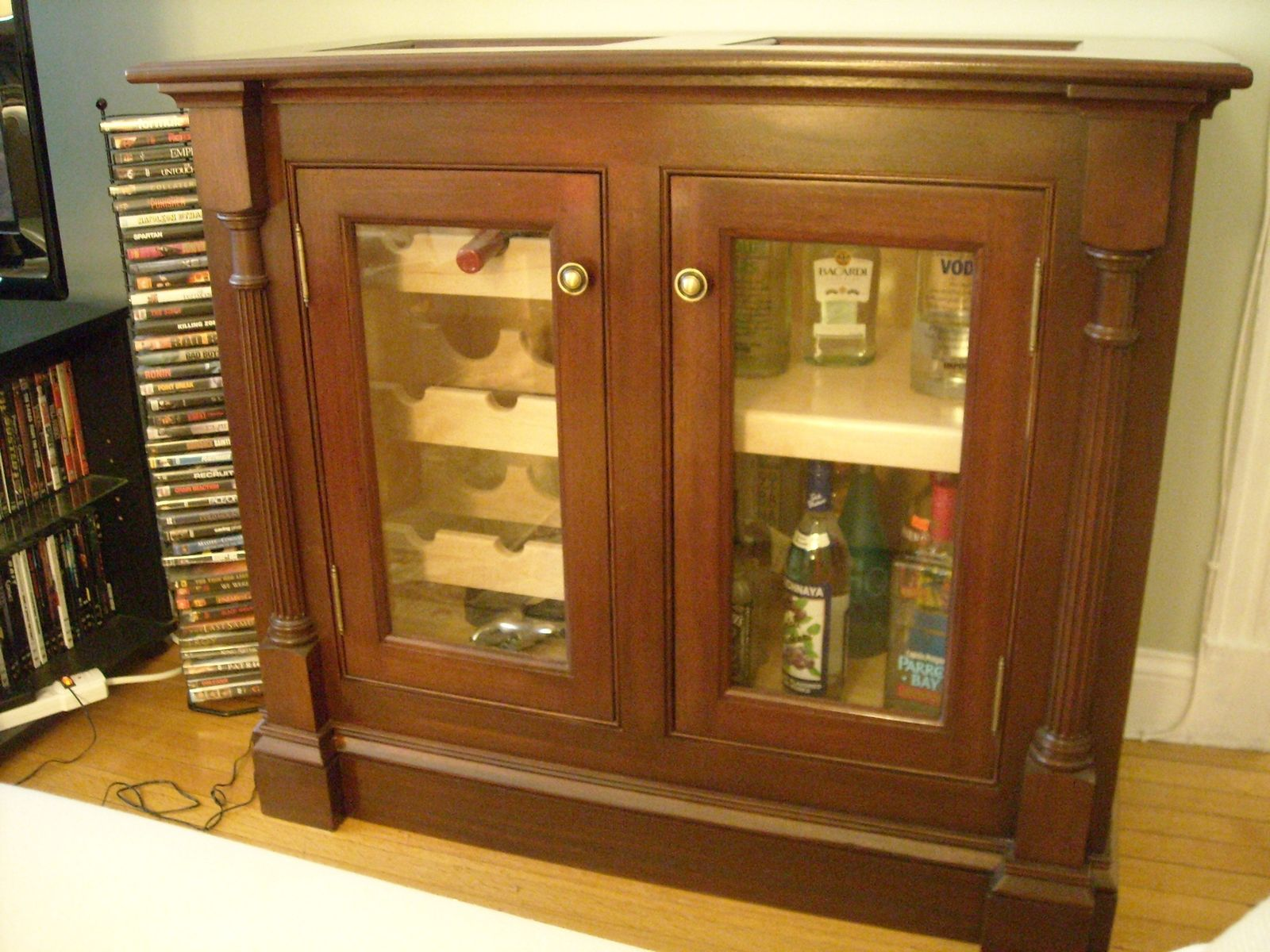 Hand Crafted Mahogany Wine Cabinet By Sheldon Woodworks