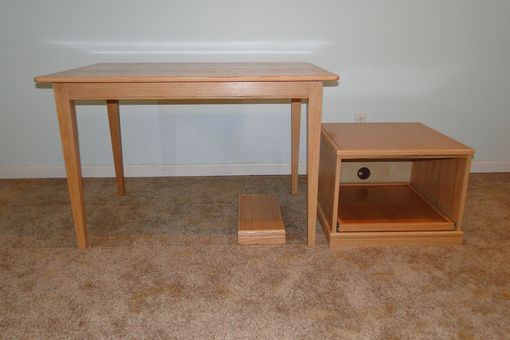 Custom Made Office Suite: Desk, Dual Printer Stand, Cpu Base