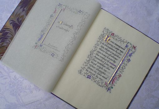 Custom Made Annabel Lee Hand-Lettered Book