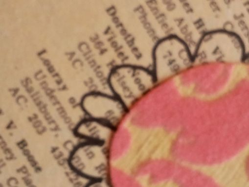 Custom Made Pink Flocked Garden Journal