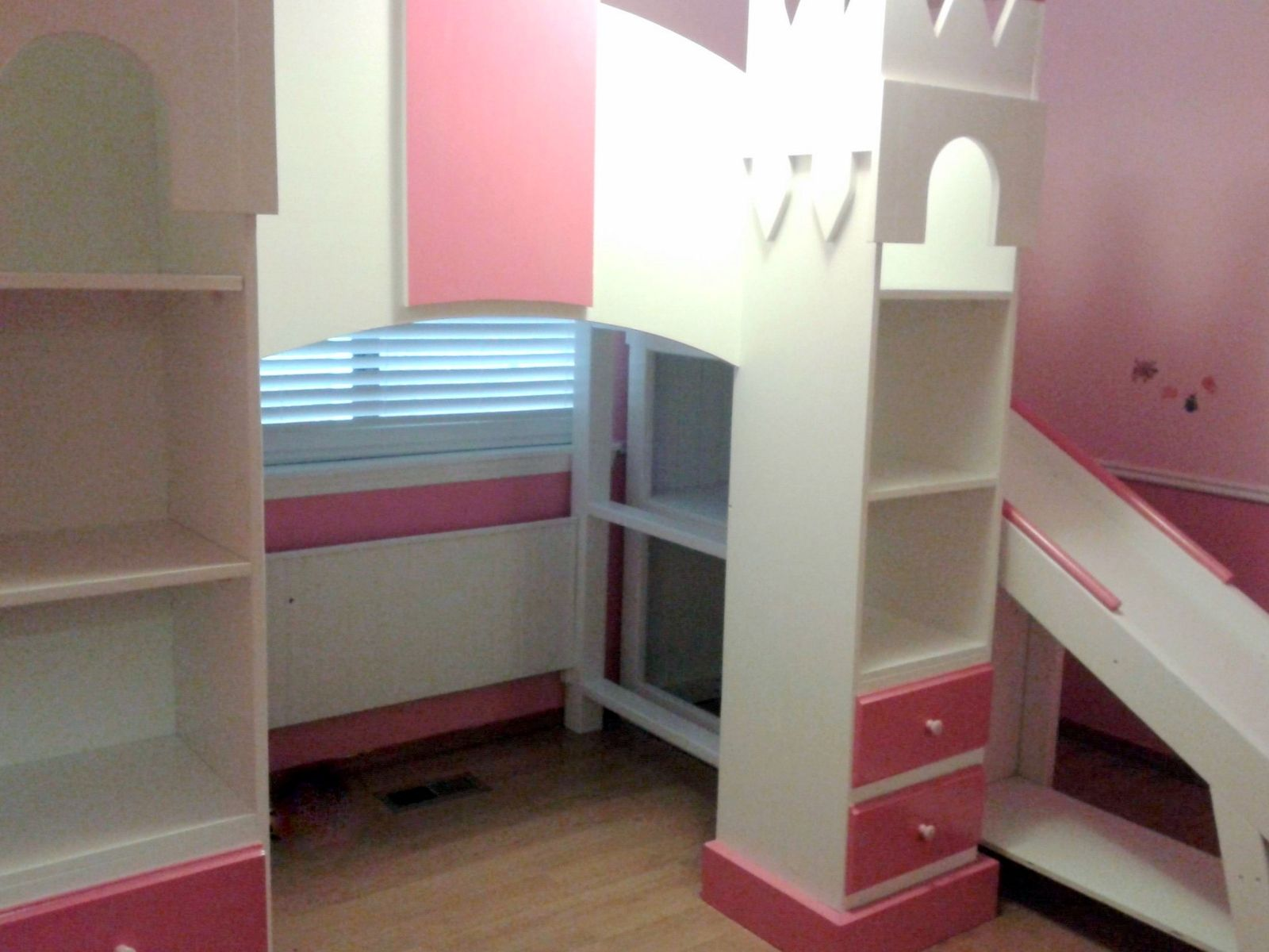 Custom Princess Castle Loft Bed By Treasure Valley