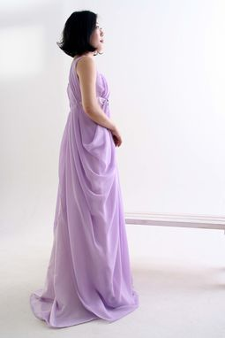 Custom Made Formal Dress - Lilac One Shoulder