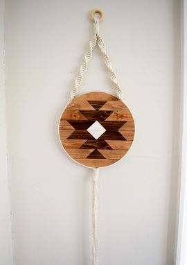 Custom Made Carme - Round Macrame Wood Wall Art Hanging