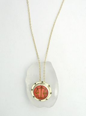 Custom Made Libra Horoscope Pendant