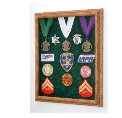 Custom Made Military Awards Display Case - Law Enforcement Case