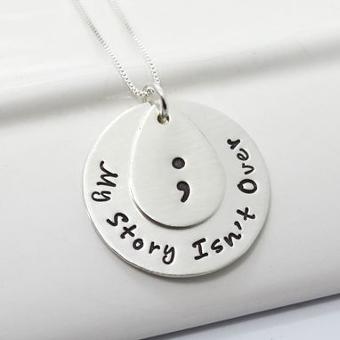 Custom Made Project Semicolon Inspirational Necklace