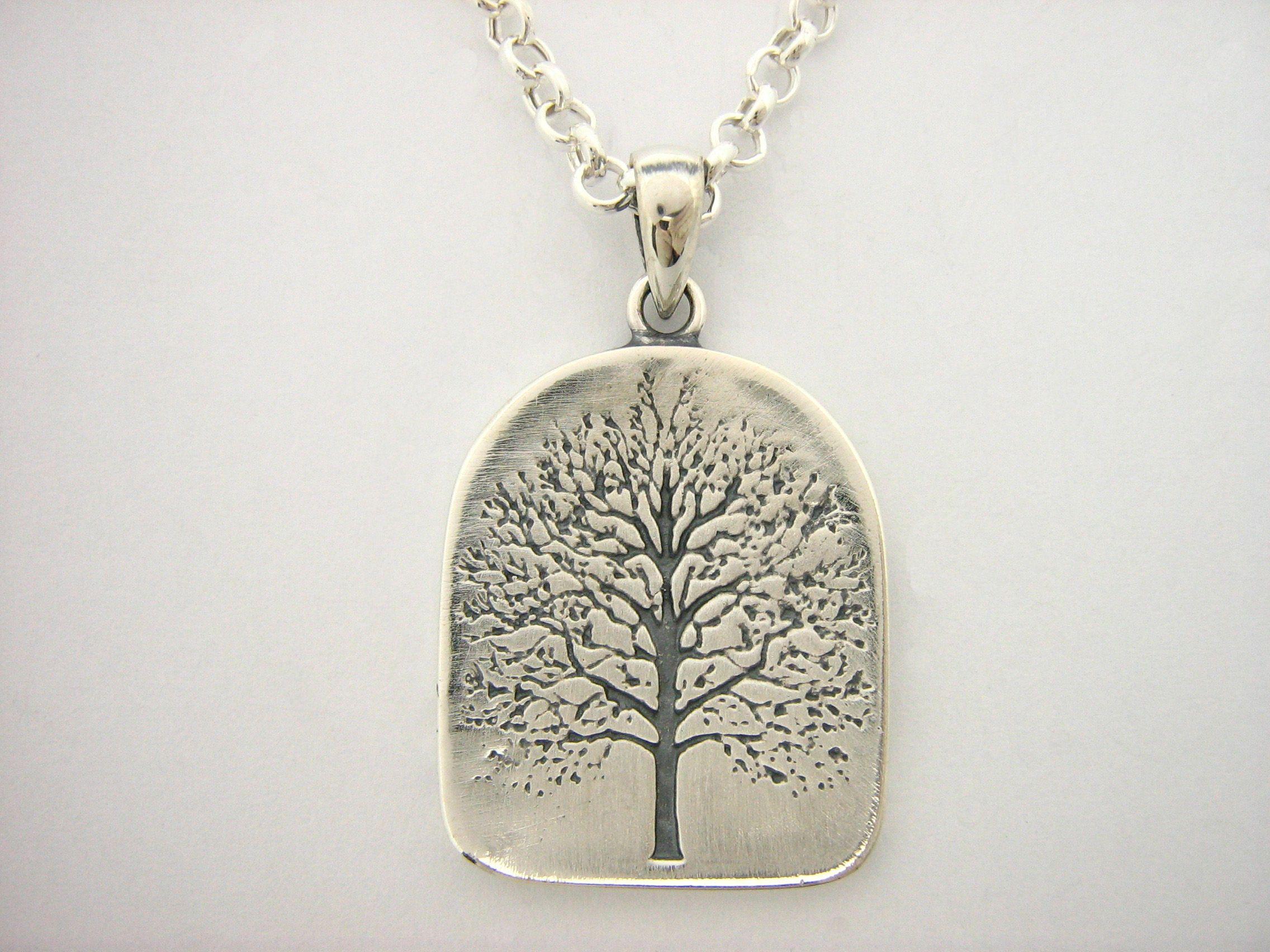 Custom sterling silver world tree of life amulet pendant by mava custom made sterling silver world tree of life amulet pendant aloadofball Images