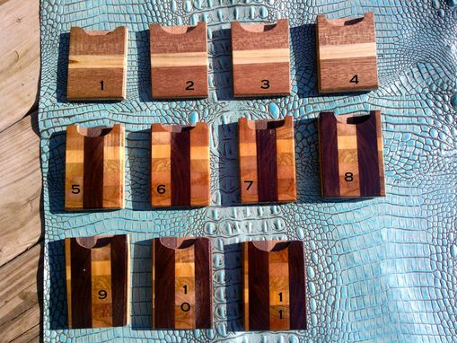 Custom Made Wooden Card Holders