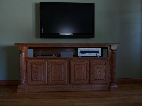 Custom Made Natural Classical Entertainment Center