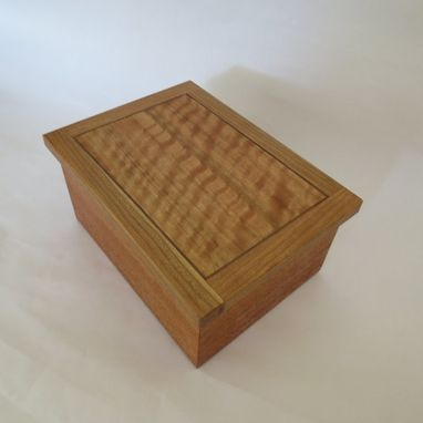 Custom Made Small Wooden Box From Mahogany, Cherry, Sapele, Sycamore, Walnut And Oak