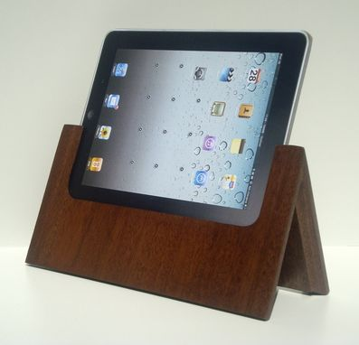 Custom Made The Tabitat Tablet Stand System For Ipad In Mahogany.